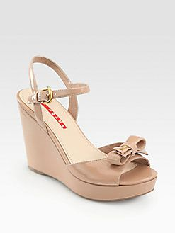 free shipping pay with paypal Prada Patent Leather Wedge Pumps outlet really get to buy online OY5zQYclSZ