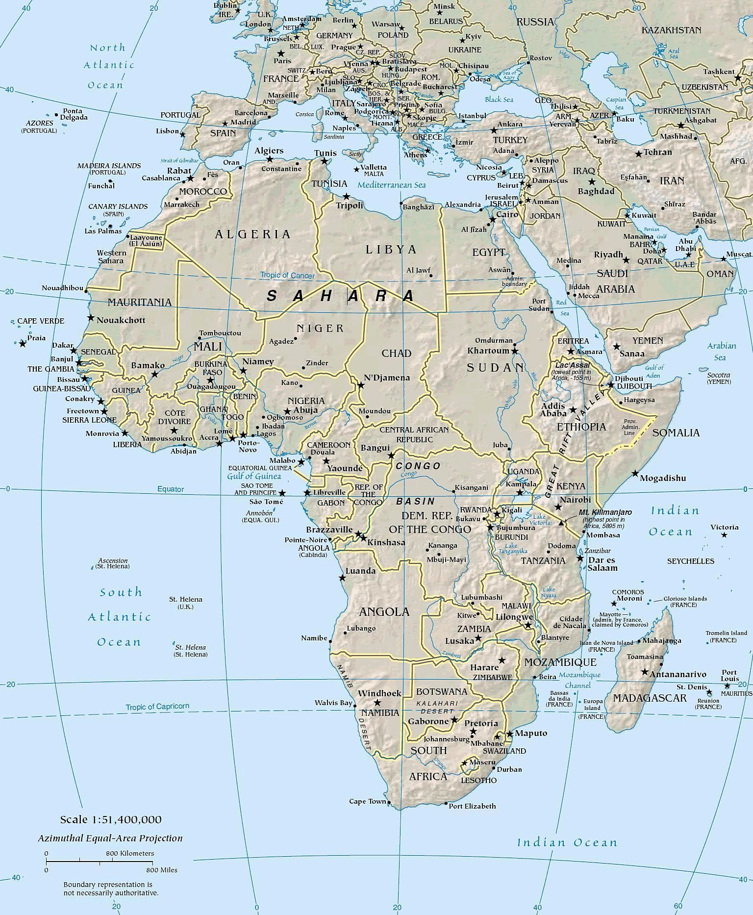 Geography For Kids African Countries And The Continent Of Africa - Africa physical map countries