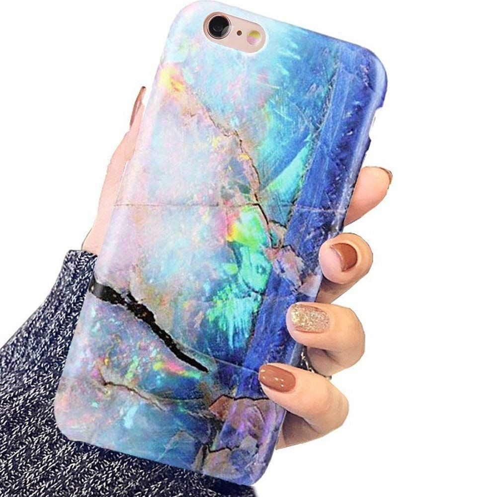 Iphone 6 Case Iphone 6s Case For Girls Blue Green Gold Opal Marble Women Best Protective Slim Fit Clear Bumper G Pink Iphone Cases Iphone 6 Case Iphone 6s Case