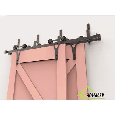 Homacer Horns Barn Door Hardware Size 11 Feet Bracket Type N A Barn Door Hardware Type St Modern Sliding Door Hardware Bypass Barn Door Hardware Barn Door