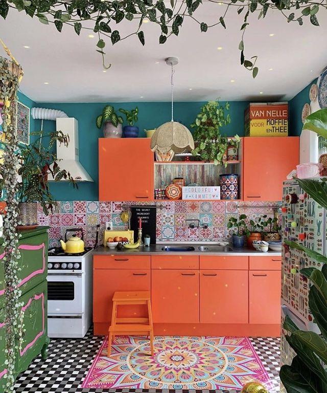 colorful kimmes bohemian kitchen decor kitchen interior home kitchens on kitchen interior boho id=23094
