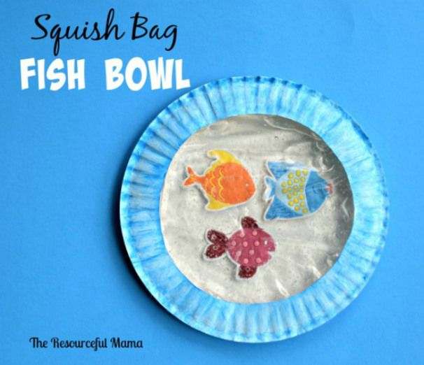 Squish Bag Fish Bowl | Art activities for toddlers, Pets ...