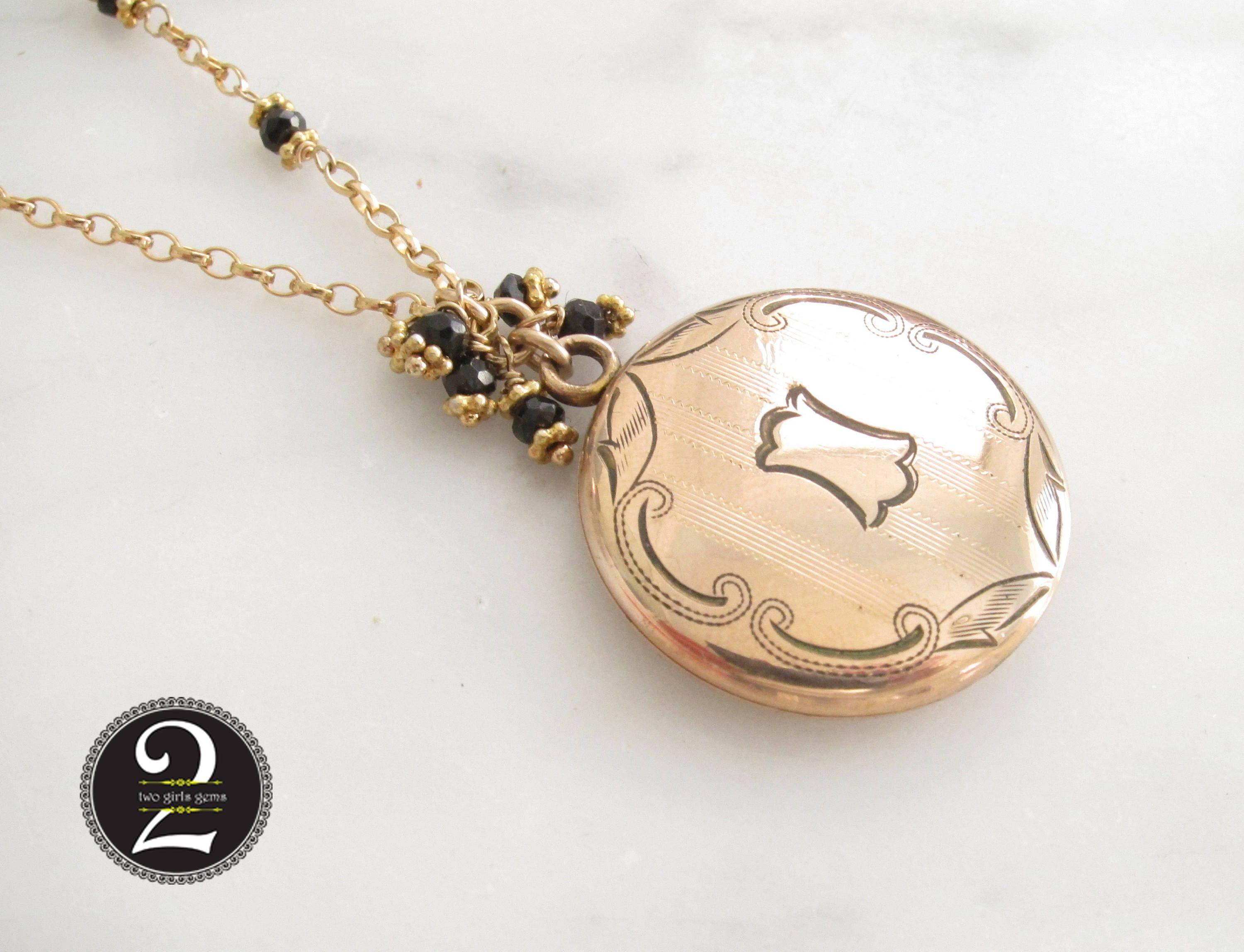 kinn locket pendant necklace gold products photo maison