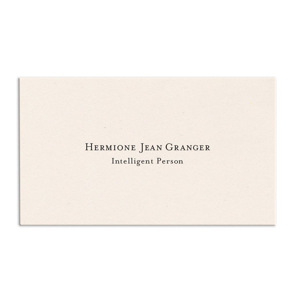 Custom Engraved Calling Cards Calling Cards Cotton Cards Standard Business Card Size