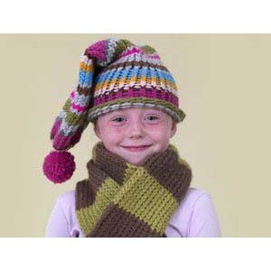 Knifty Knitter Striped Toboggan Cap in Lion Brand Wool-Ease   Knitting Patterns   LoveKnitting