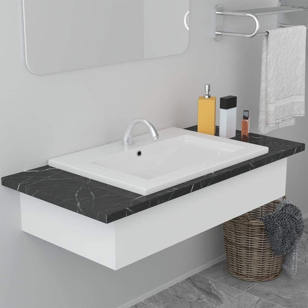 Photo of Built-in Basin 61×39.5×18.5 cm Ceramic White