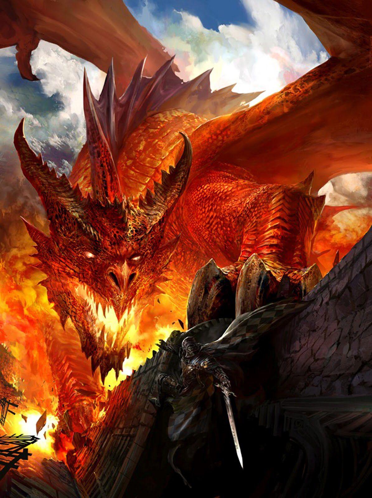 Knight Vs Dragon Wallpaper