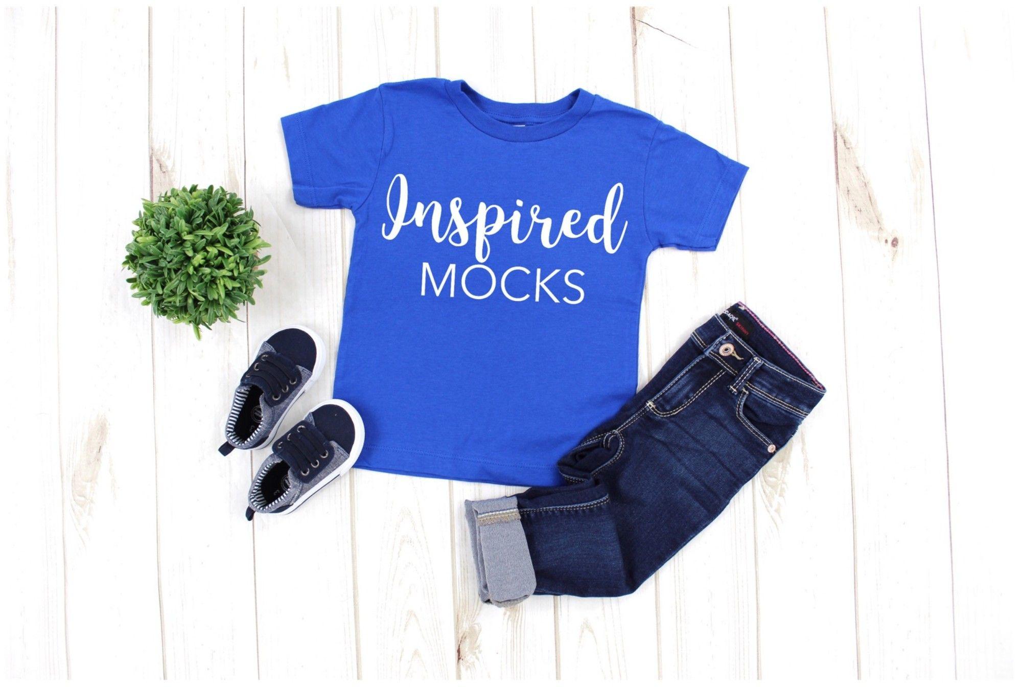 Toddler Mockup Bella Canvas 3001t Royal Blue Tshirt Mockup
