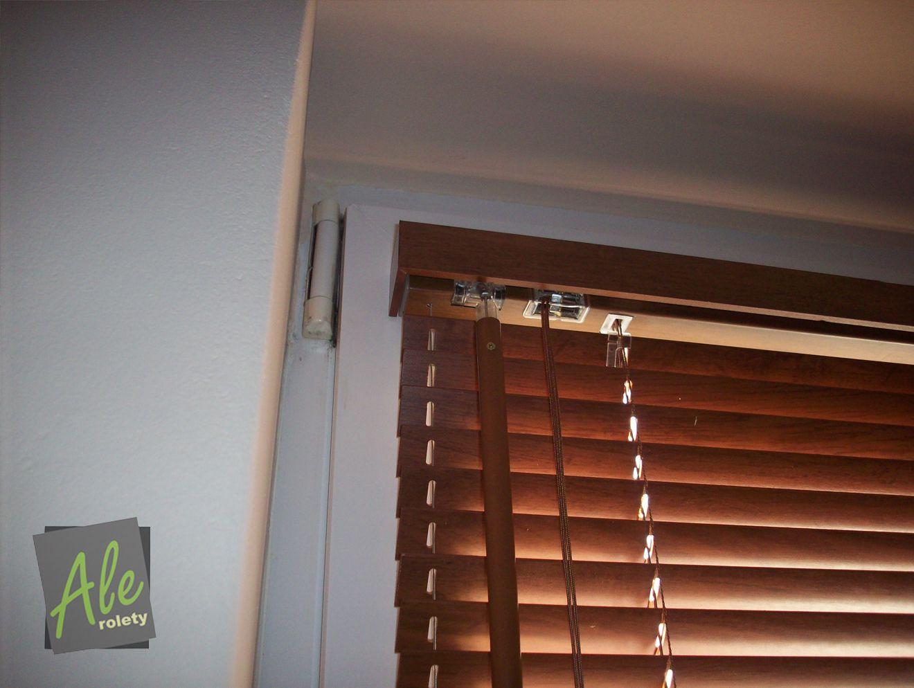 Eyebrow window coverings  wooden blinds rolety drewniane  roller blinds  pinterest