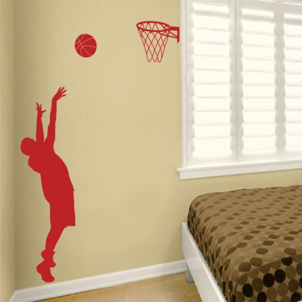E likes. Basketball Player - Wall Decals Stickers Graphics | Kids ...