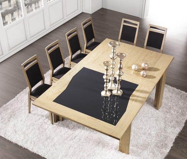 s jour diamente table extensible carr e avec allonge en bois longueur 1380 cm sans allonge. Black Bedroom Furniture Sets. Home Design Ideas