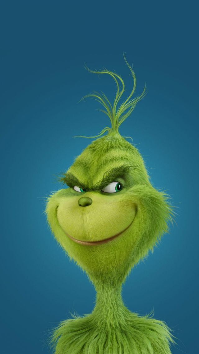 Grinch with sassy smile Funny christmas wallpaper