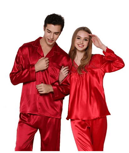 37c05d9a5d Bavijama Silk Long Sleeve Matching Couples Women s Men s Pajamas Sets