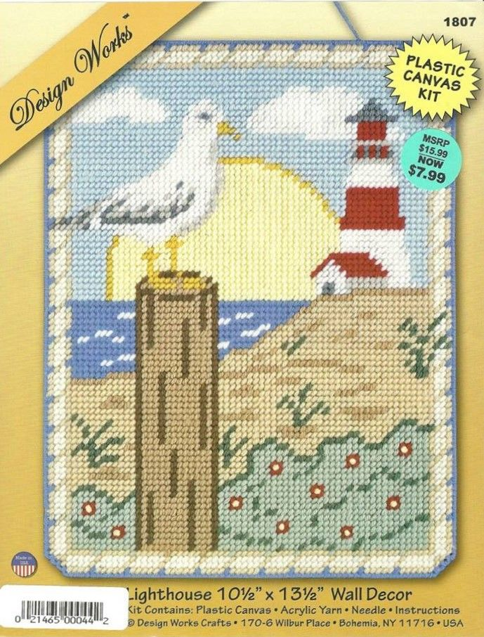 LIGHTHOUSE WALL DECOR by DESIGN WORKS 1/2 | Plastic Canvas ...