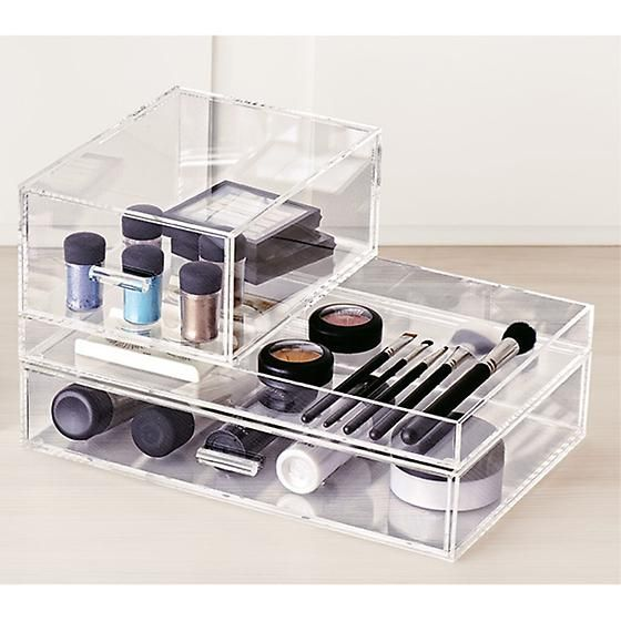 Acrylic Organizer Luxe Container Store