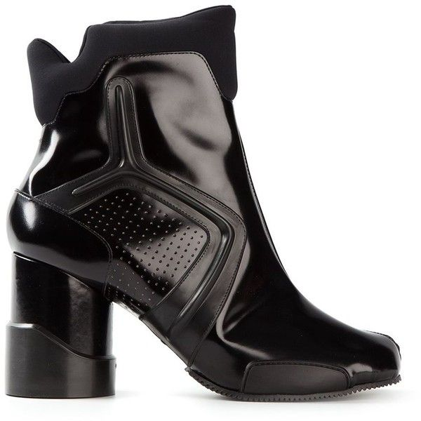Cheap Flights Maison Margiela Ankle Boots Leather Black Peep toe