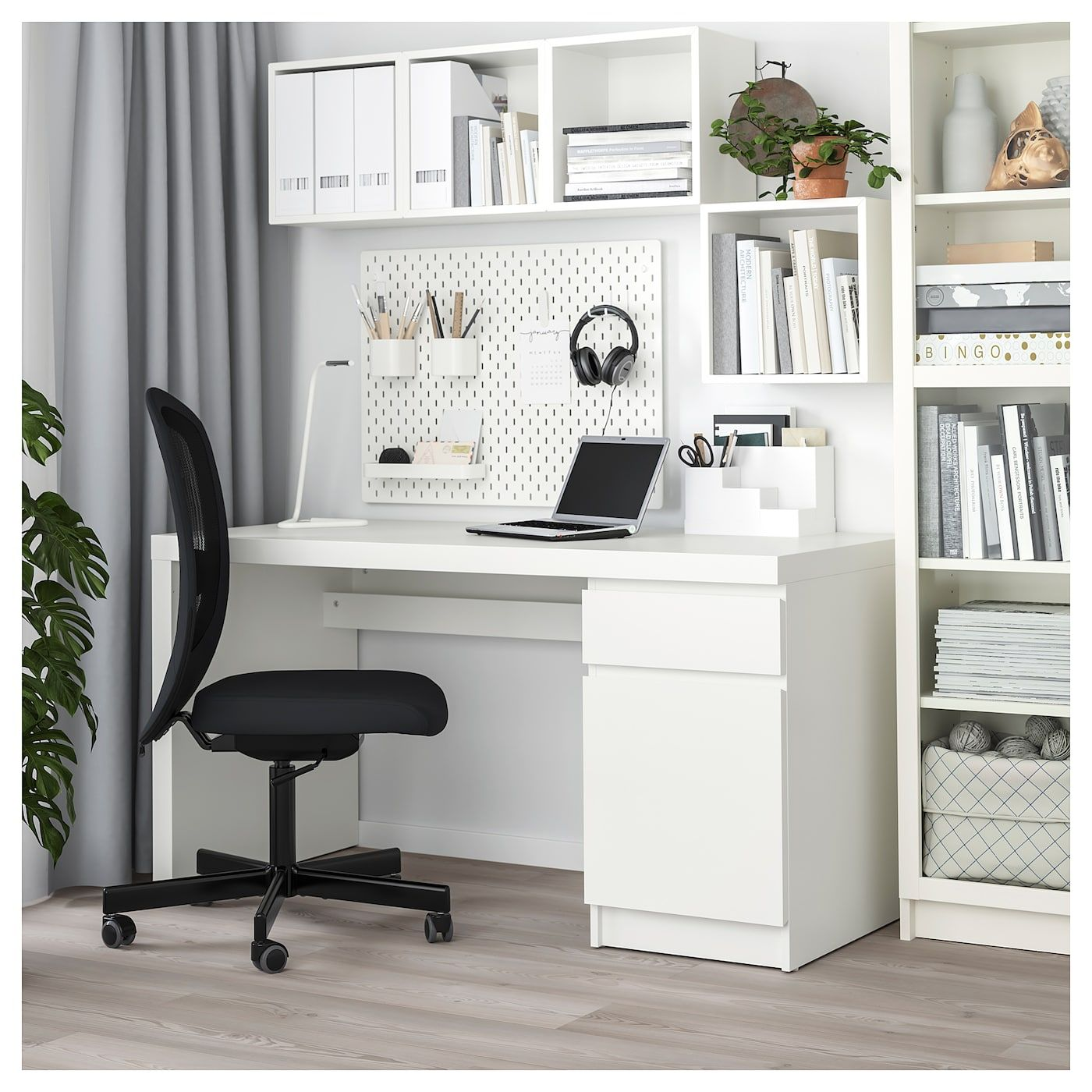 Malm Desk White 55 1 8x25 5 8 140x65 Cm Home Office Design