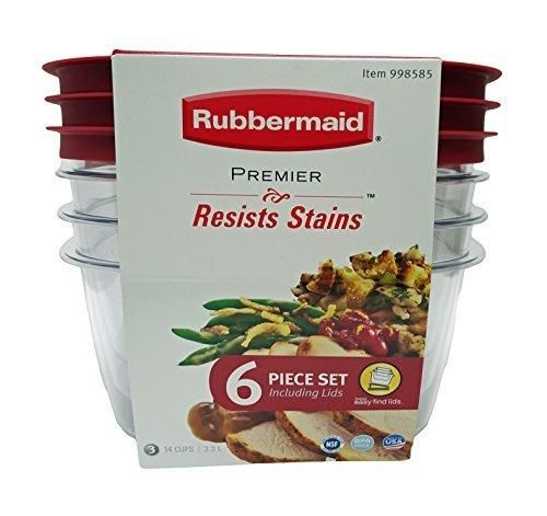 Rubbermaid Premier Food Storage Container 14 cup Size Clear 6
