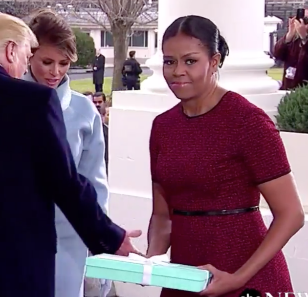 This Was Michelle Obama's Face Accepting Melania Trump's Gift ...