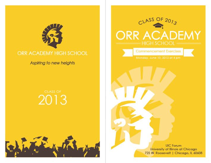 Orr Academy High School Graduation Ceremony Program By Lauren