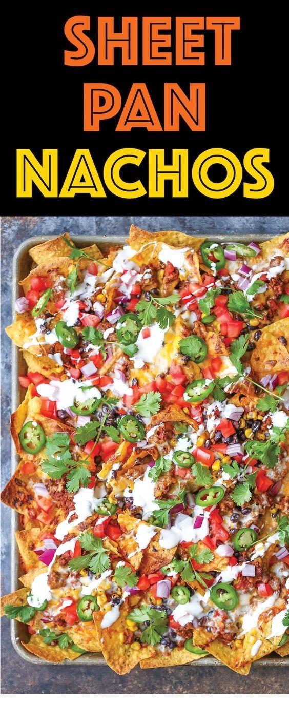 Sheet Pan Nachos #healthydinnerrecipesvideos