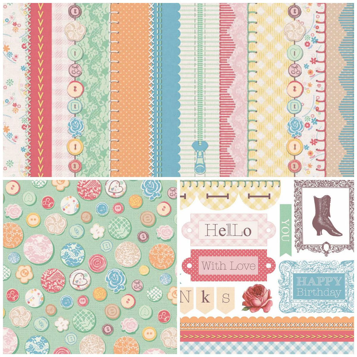 Free Vintage Treasures printable papers from Papercraft Inspirations!