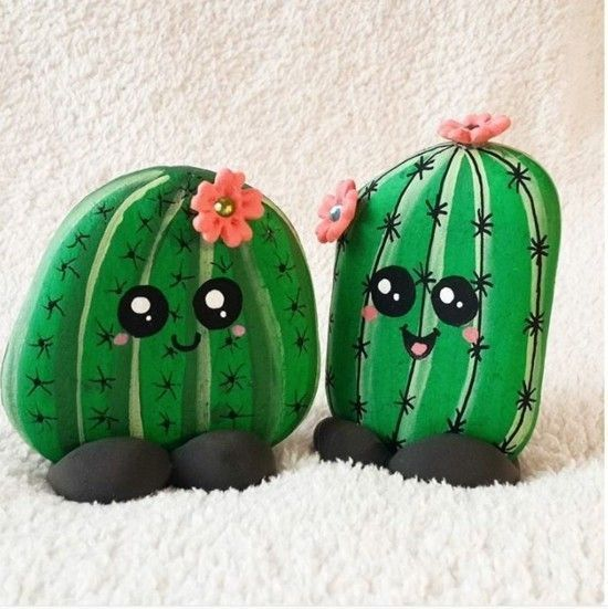Trendy cactus decoration - 60 craft ideas for an additional summer mood - art