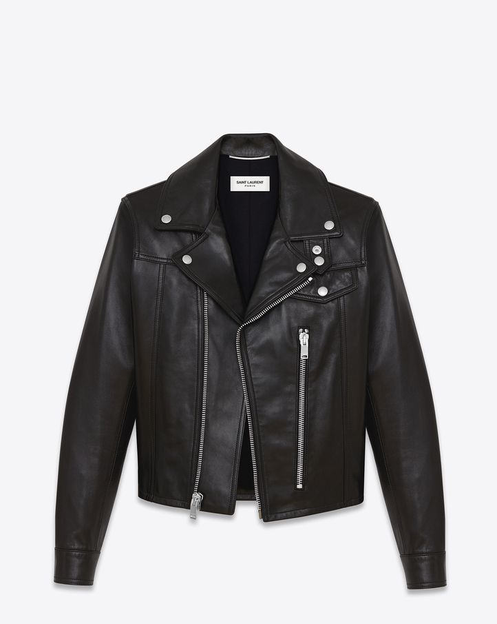 04ac00c045b Saint Laurent Straight Motorcycle Jacket In Black Leather $4,290 ...