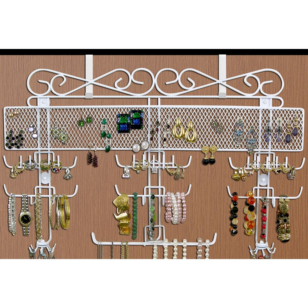 This Over the Door Jewelry Valet is a classic way to keep your