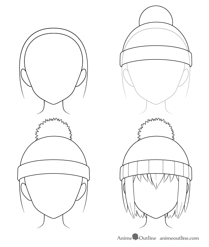 How To Draw Anime Hats Head Ware Animeoutline In 2020 Anime Drawings Tutorials Anime Drawings Anime Face Shapes