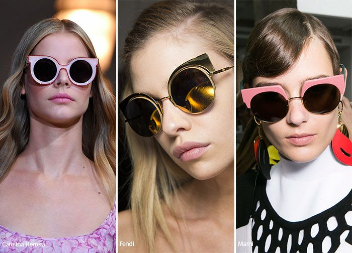 3384257613 Spring  Summer 2016 Eyewear Trends  Cat Eye Sunglasses with Round Frames   sunglasses  eyewear  trends
