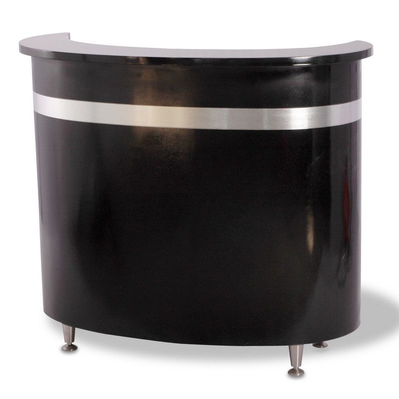 An Elegant Curved Reception Desk That Adds Refined Style To Any Salon With Its Stylish Front Panel This Consists Of A Lockable Drawer
