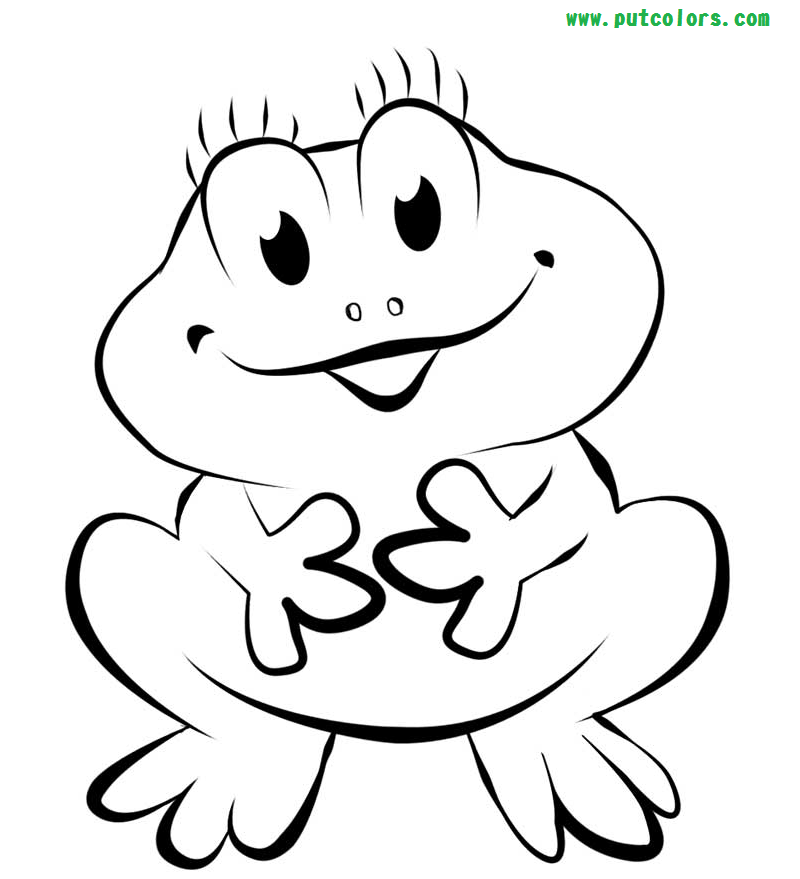 Funny Frog Coloring Pages Frog coloring pages, Animal