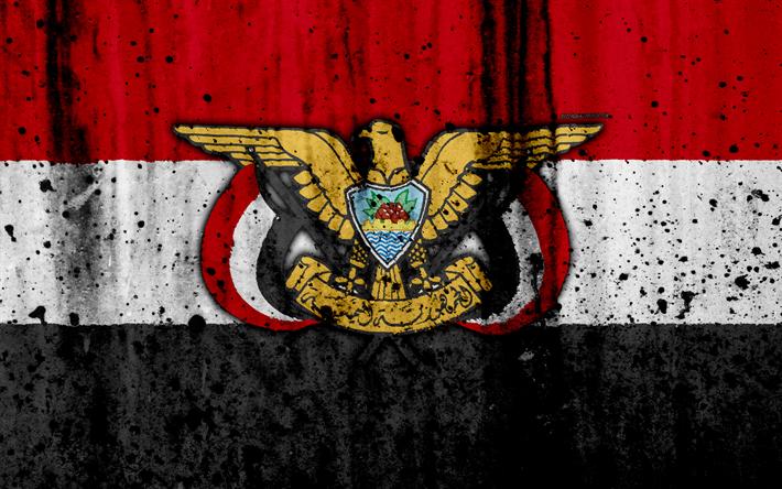 Download Wallpapers Yemeni Flag 4k Grunge Asia Flag Of Yemen National Symbols Yemen Yemeni Coat Of Arms National Flag Besthqwallpapers Com Yemen Flag Hand Lettering Logo Yemeni Flag