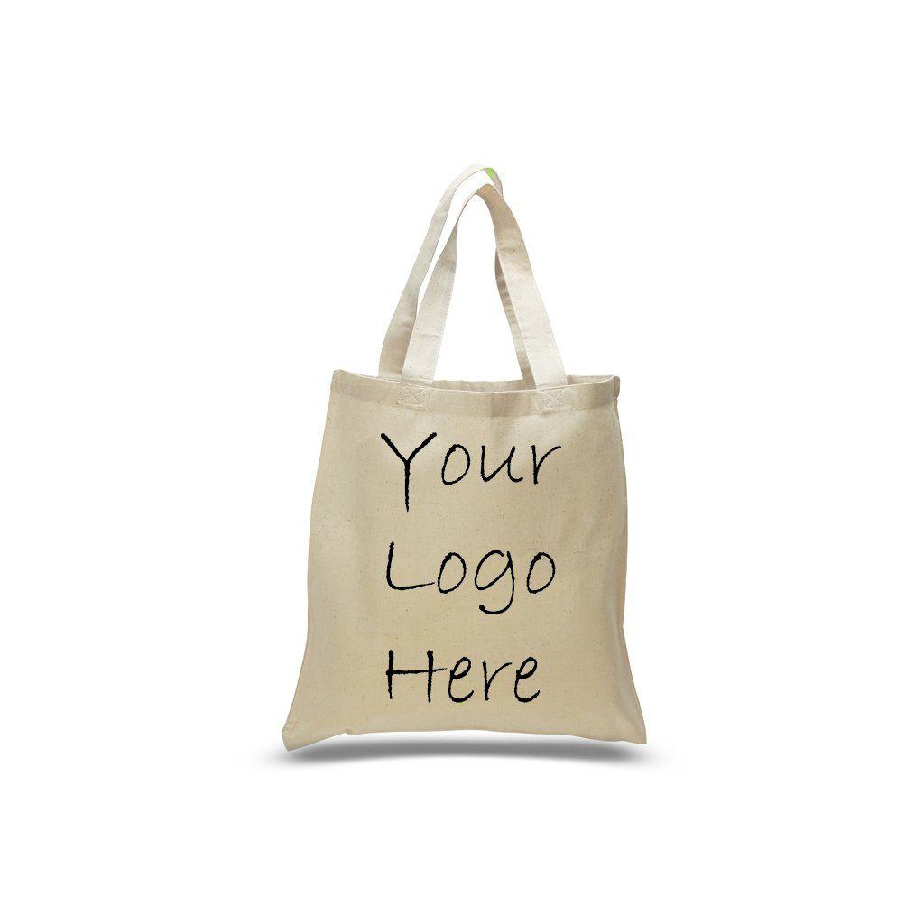 aa7270e0edba Cotton Tote Bag with 1 Color Logo Print - TB100 - Logo ...