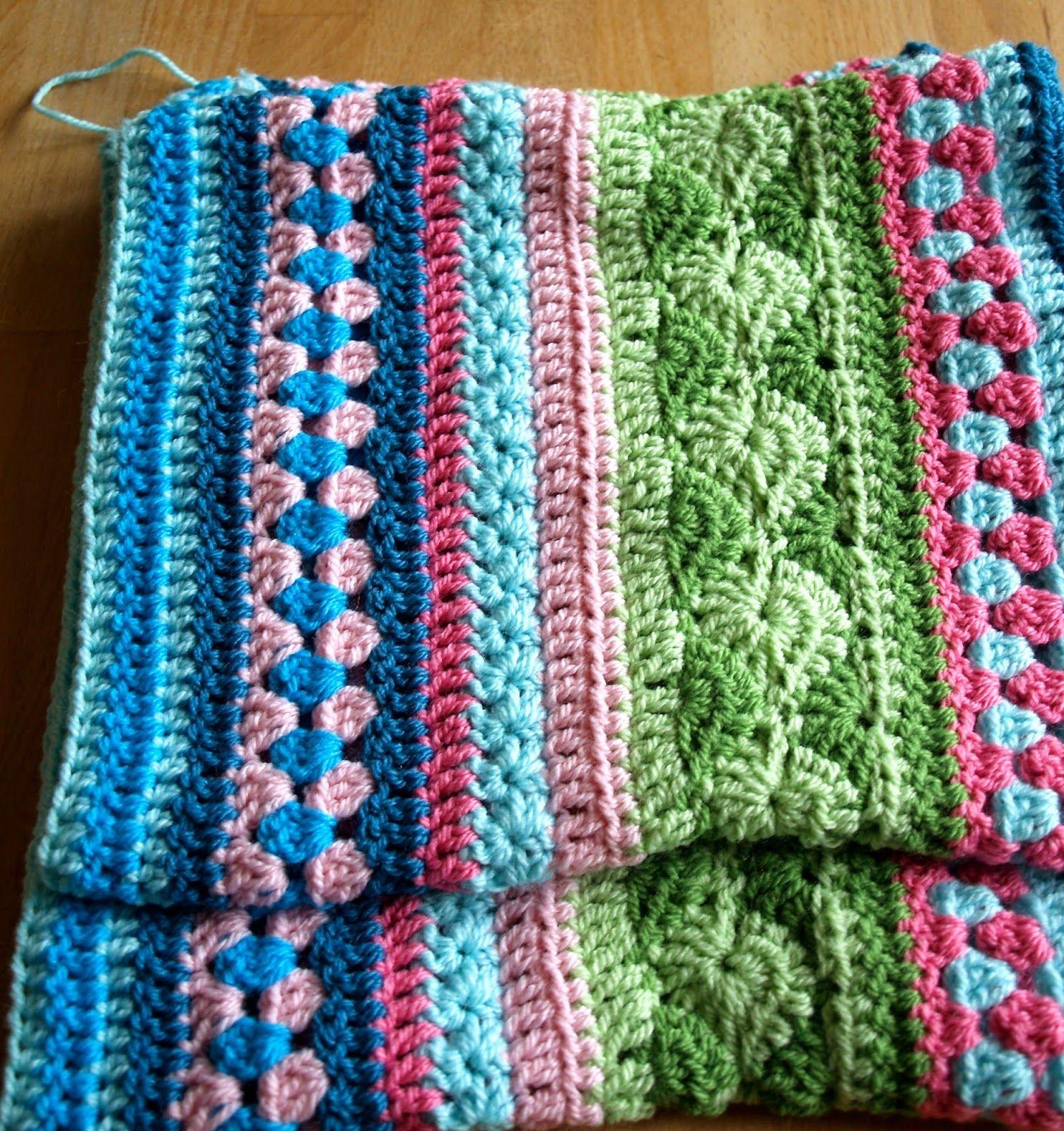Famoso Crochet Patrones Afganos Festooning - Manta de Tejer Patrón ...