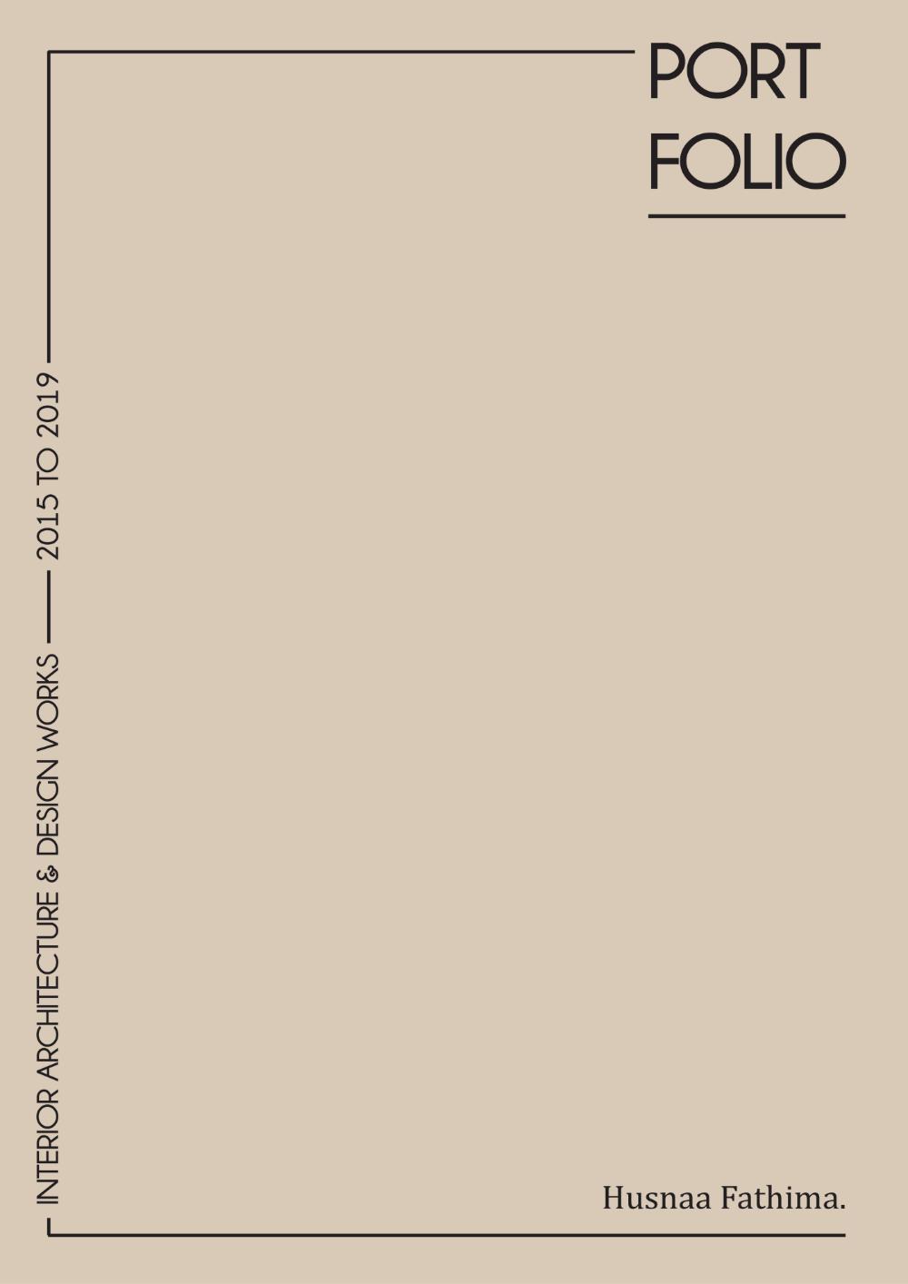 Interior Design Portfolio 2015-2019.