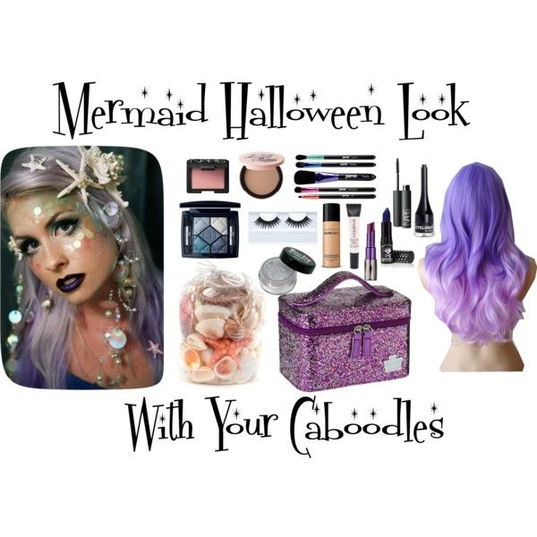 Recreate this lovely Mermaid Halloween Makeup and store the makeup ...