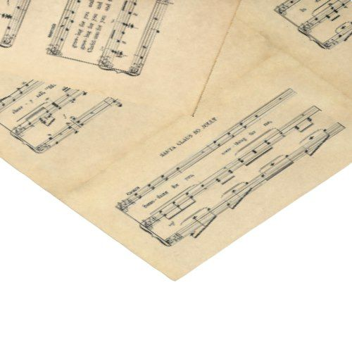 Vintage Christmas Sheet Music Tissue Paper | Zazzle.com #vintagesheetmusic