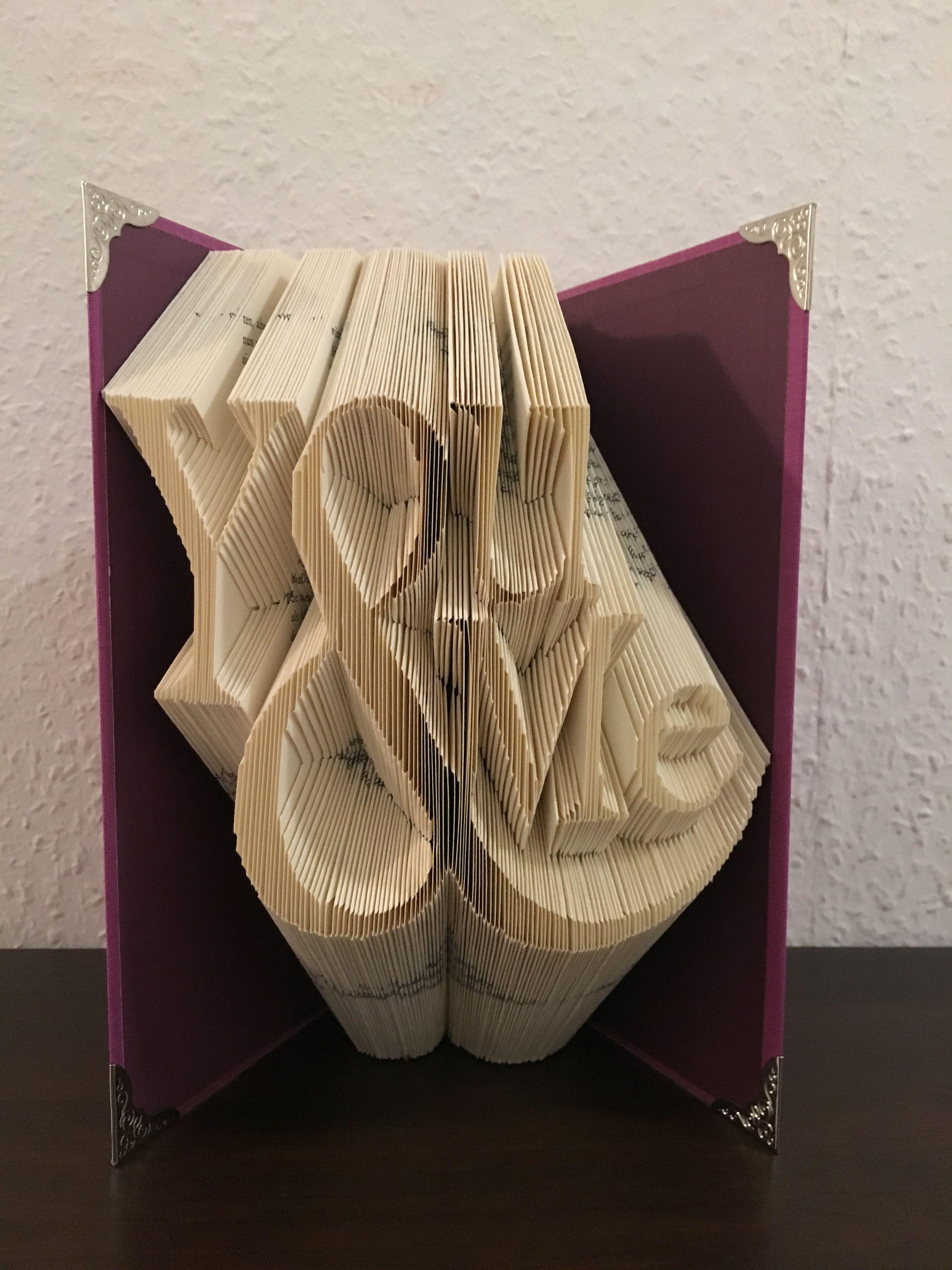 Origami Buch Falten