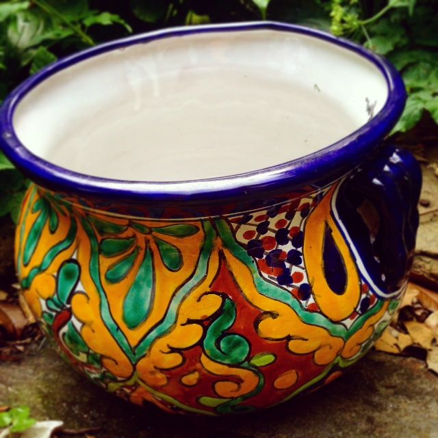 Gorgeous Talavera planter.