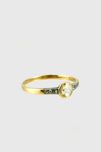 Antique Rose Cut Diamond Ring