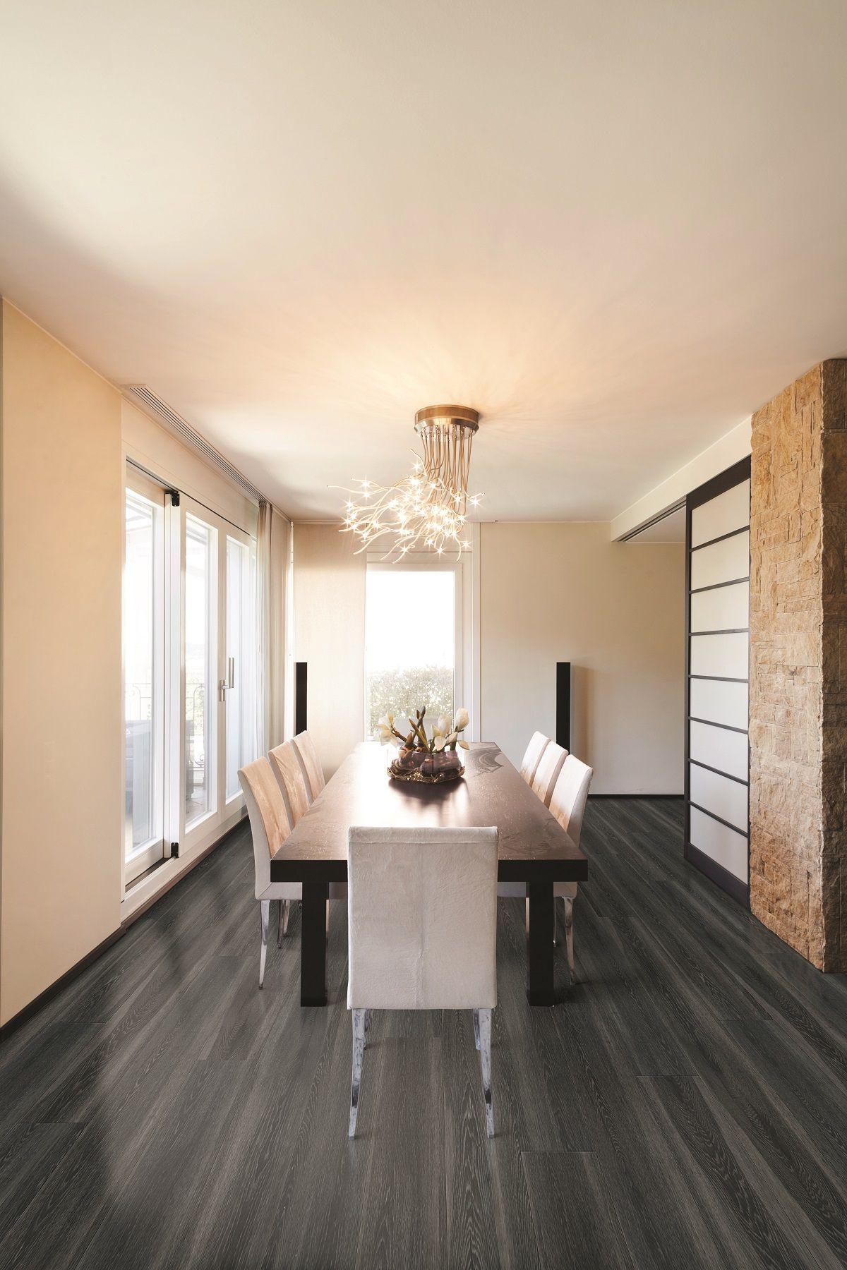 COREtec Plus XL Gotham Oak modern dining room LVT