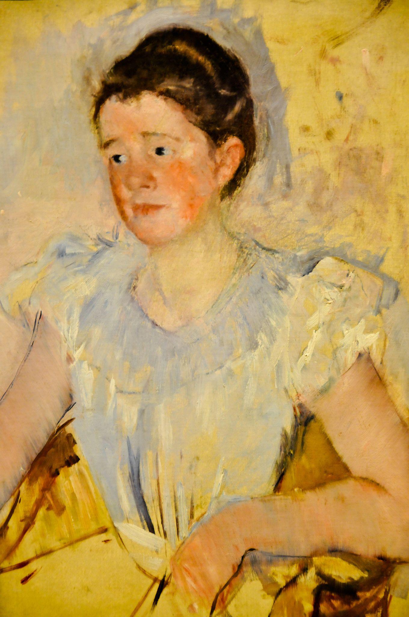 Mary Cassatt - Buste d'une femme en corsage blanc (Portrait of Katherine Cassatt), 1905 at National Museum of Women in the Arts Washington DC | by mbell1975
