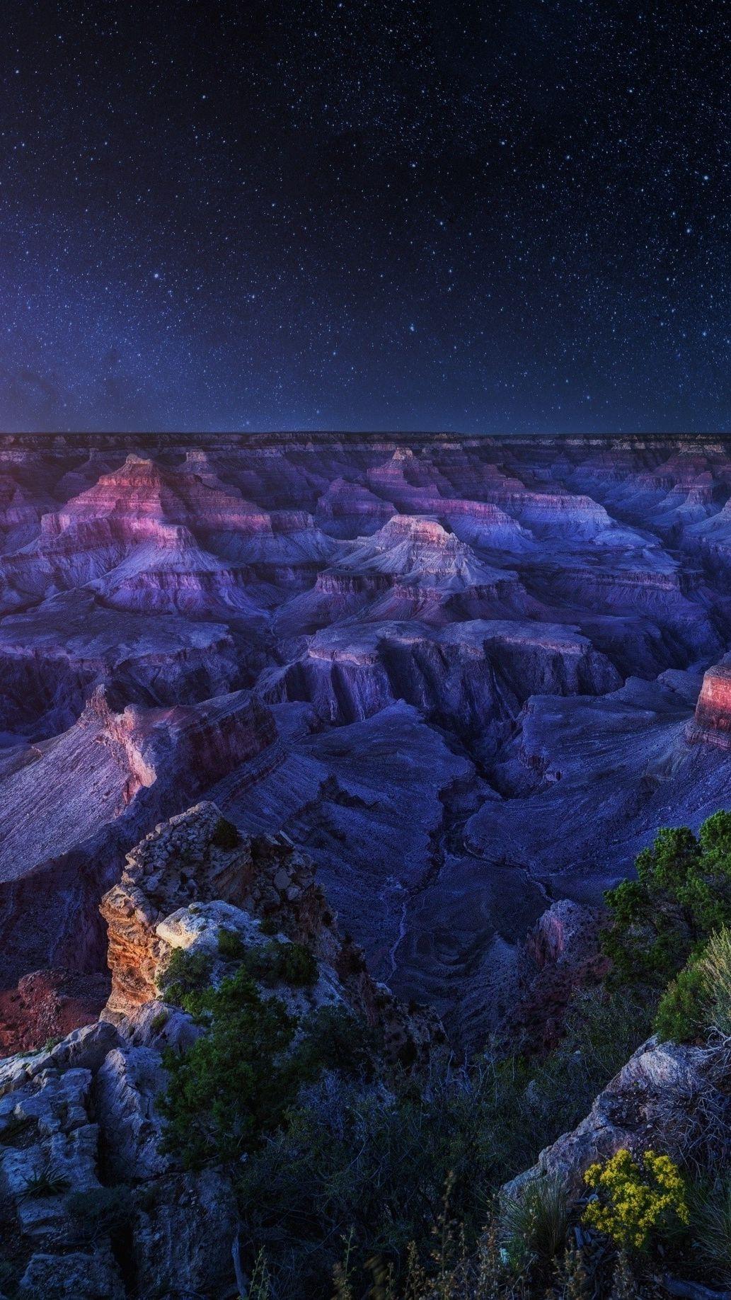 Arizona Grand Canyon In Night Iphone Wallpaper Iphone