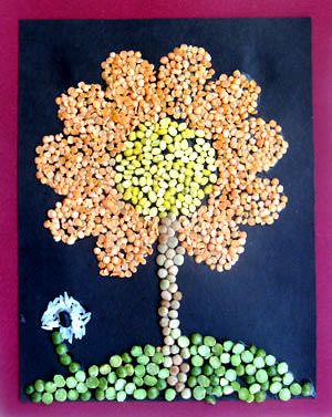 Art With Seeds And Pulses Art Ideas For Work Pinterest Crafts