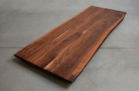 nussbaum naturale tischplatte astfrei diy pinterest tisch holz und nussbaum. Black Bedroom Furniture Sets. Home Design Ideas