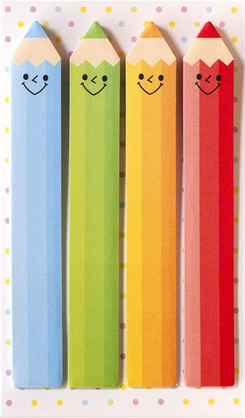 long funny crayons bookmark stickers post it japanese stationery bookmarks diy bookmarks. Black Bedroom Furniture Sets. Home Design Ideas