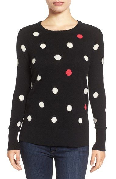 Halogen® Patterned Cashmere Sweater (Regular & Petite) available ...