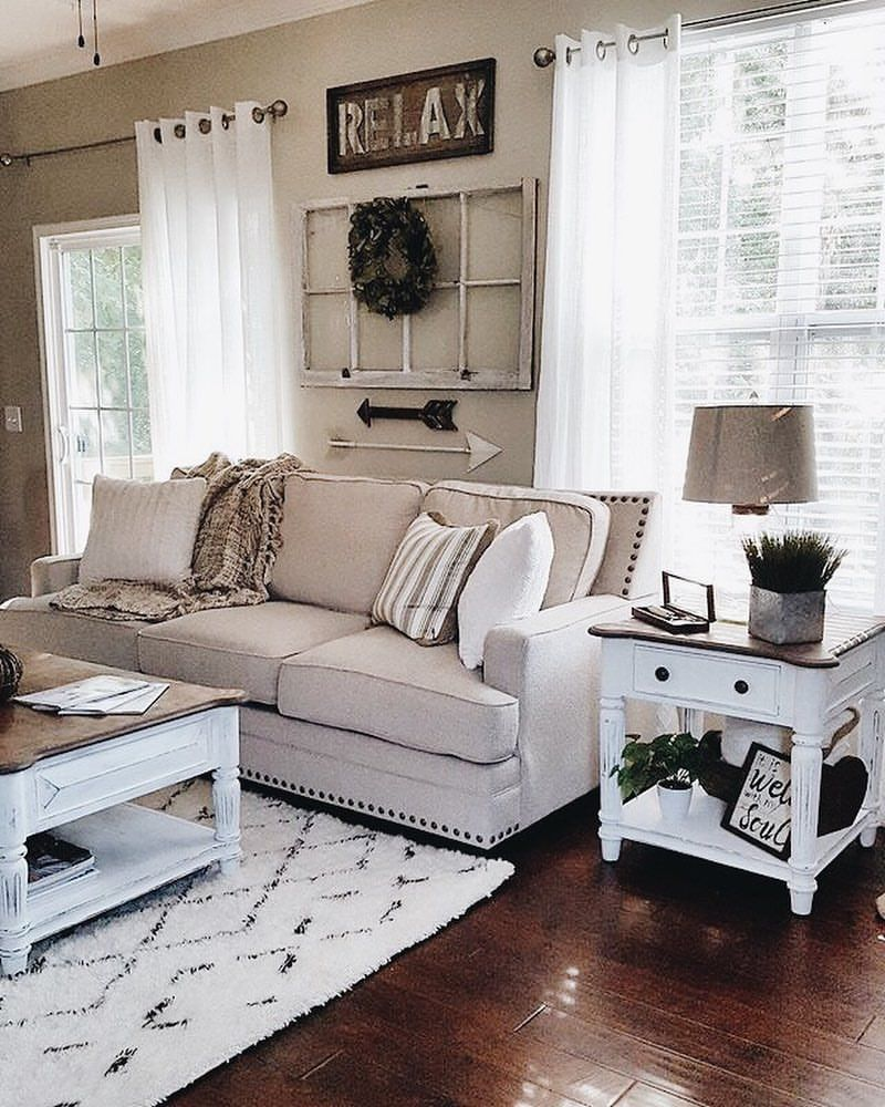 Transform Your Home With Farmhouse Living Room: Laundry Room Makevover For Under $250! With DIY Rustic